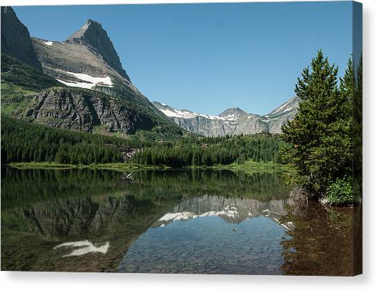 Mt. Grinnell Across Red Rock Lake Glacier National Park Canvas Print