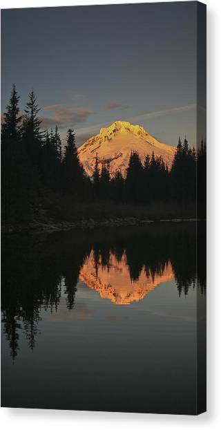 Mt Hood Alpenglow II Canvas Print