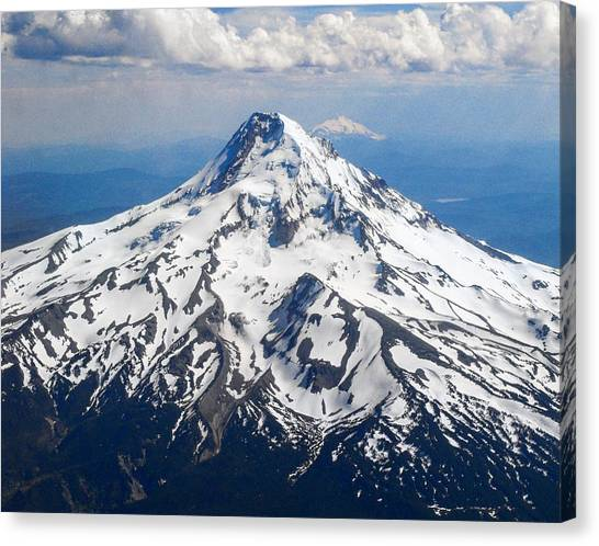 Mt. Hood From 10,000 Feet Canvas Print