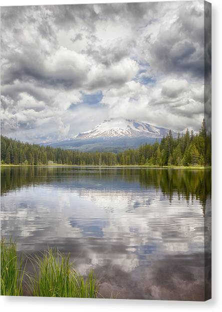 Mt Hood From Trilliam Lake Canvas Print