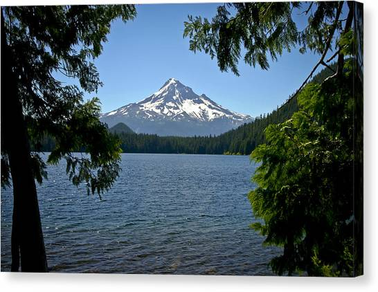 Mt Hood Over Lost Lake Canvas Print
