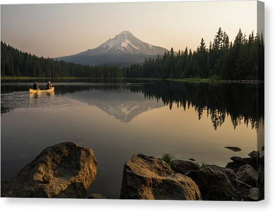 Mt Hood Sunrise  Canvas Print
