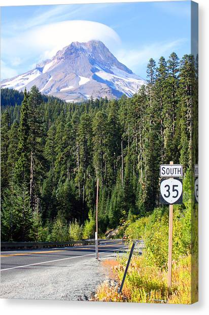Mt. Hood With Lenticular Cloud Canvas Print by Margaret Hood