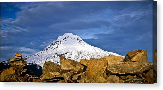 Mt Hood With Talus Canvas Print