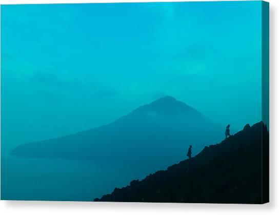 Krakatoa Canvas Print - Mt Krakatoa by W Fifi Andriasih