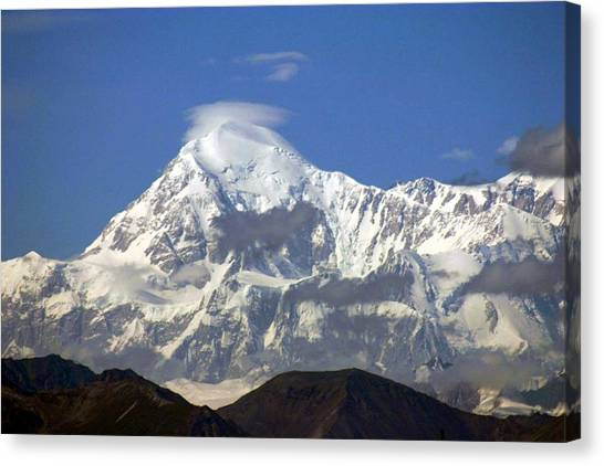 Mt. Mckinley Circling Wind Canvas Print by Jack G  Brauer