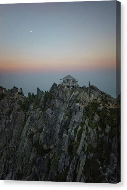 Smokey Canvas Print - Mt. Pilchuck Lookout by Ryan McGinnis