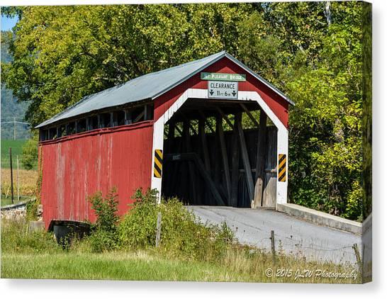 Mt. Pleasant Covered Bridge Canvas Print