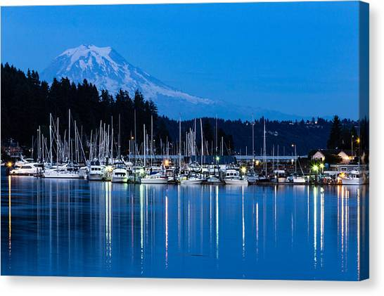 Mt. Rainier From Gig Harbor Canvas Print