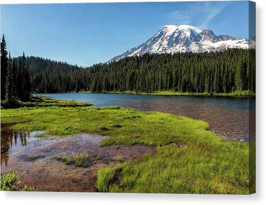 Mt Rainier From Reflection Lake, No. 2 Canvas Print