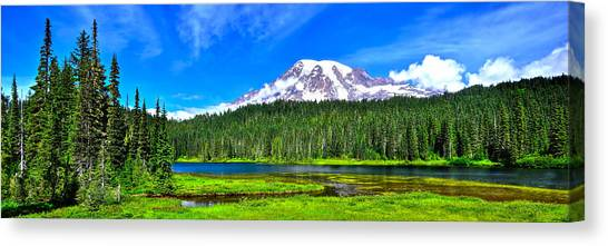 Mt. Rainier From Reflection Lakes Canvas Print