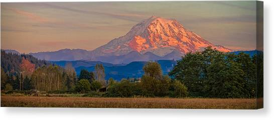 Mt Rainier In The Fall Canvas Print