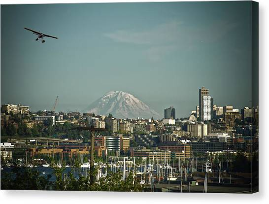 Mt Rainier Is Out Canvas Print