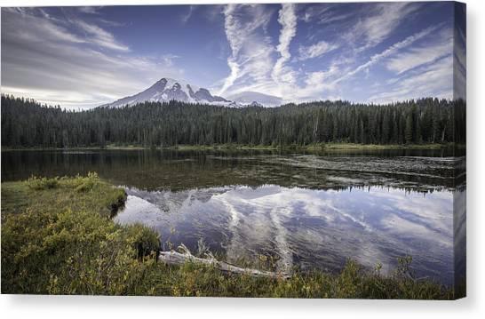 Mt. Rainier Reflection Canvas Print