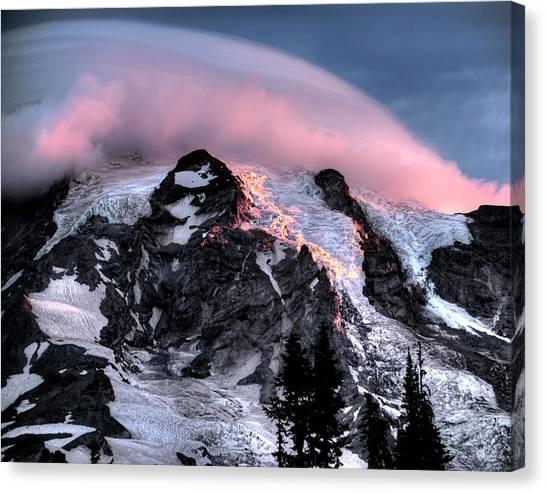 Mt Rainier Sunrise Fine Art Photograph Canvas Print