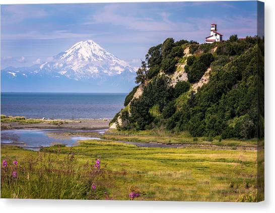 Mt. Redoubt From Ninilchik Beach Canvas Print