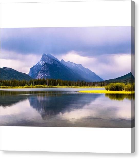 Scotty Canvas Print - Mt. Rundle In Banff #banff #mountain by Scotty Brown