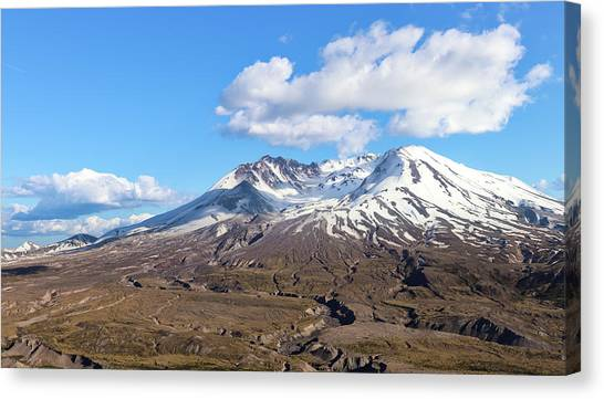 Canvas Print featuring the photograph Mt Saint Helens by Robert Bellomy