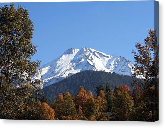 Mt. Shasta Framed Canvas Print by Holly Ethan