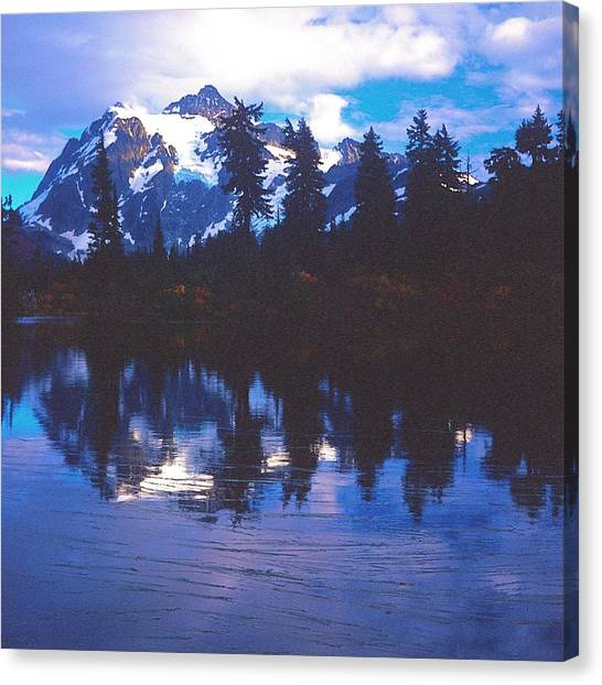 Mt. Shuksan - Picture Lake Canvas Print