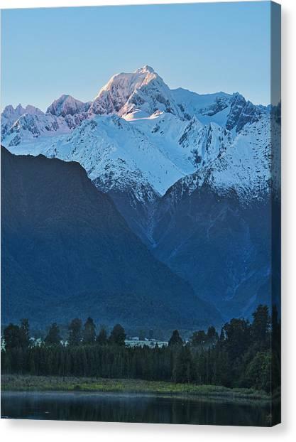 Fox Glacier Canvas Print - Mt Tasman 2 - New Zealand by Steven Ralser