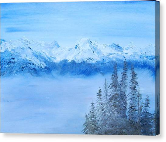 Mt. Whistler Canada  Canvas Print by Tina Haeger