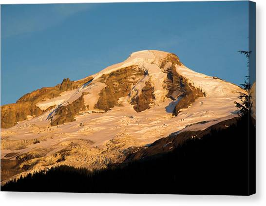 Mt.baker At Sunset  Canvas Print