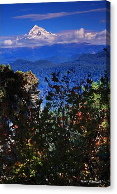 Mt.hood N Fall Canvas Print