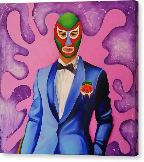 Hulk Hogan Canvas Print - Mucho Luchadore by Crimson Shults