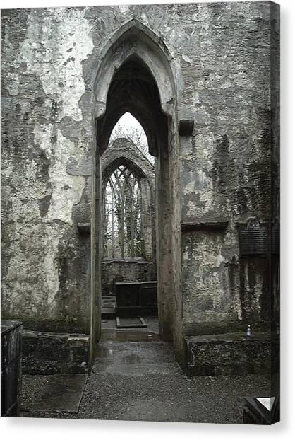 Muckross Abbey Canvas Print by William Thomas