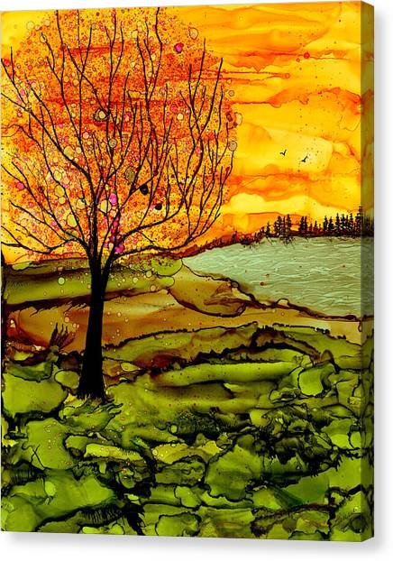 Muddy Fall Canvas Print