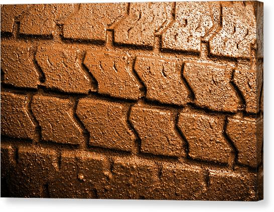 4x4 Canvas Print - Muddy Tire by Carlos Caetano