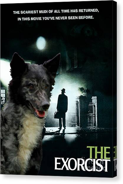 The Exorcist Canvas Print - Mudi Art Canvas Print - The Exorcist Movie Poster by Sandra Sij