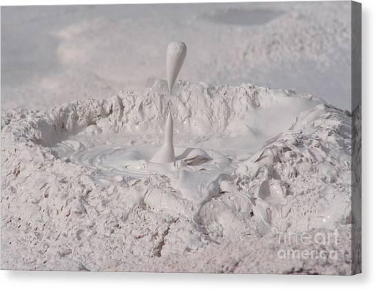 Mudpot Canvas Print - Mudpot Yellowstone by Audrey Kirchner