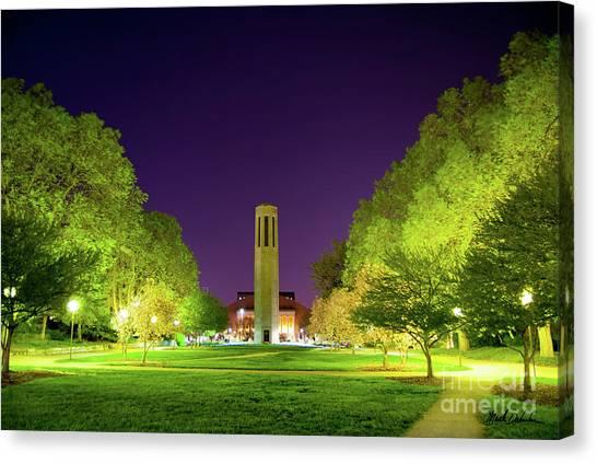 University Of Nebraska Canvas Print - Mueller Tower by Mark Dahmke