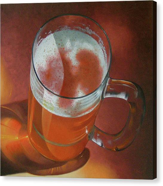 Mug Of Beer Canvas Print