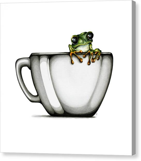 Frogs Canvas Print - Muggy by Christina Meeusen