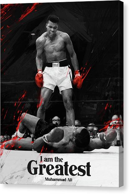 Clay Canvas Print - Muhammad Ali by Afterdarkness