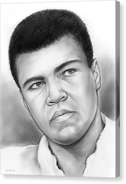 Boxing Canvas Print - Muhammad Ali by Greg Joens