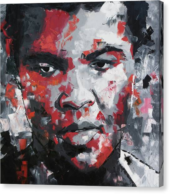 Boxing Canvas Print - Muhammad Ali II by Richard Day