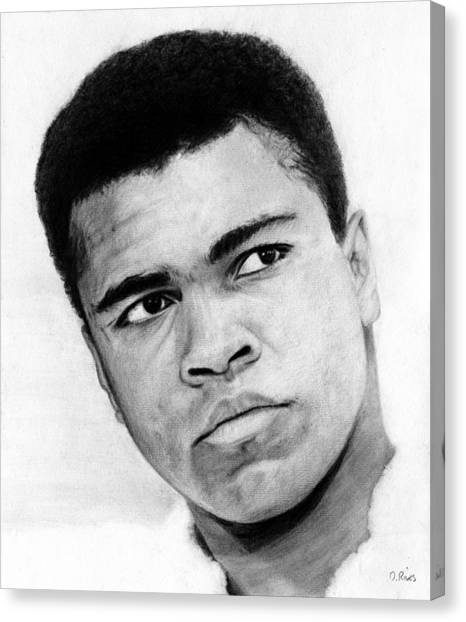 Muhammad Ali Pencil Drawing Canvas Print