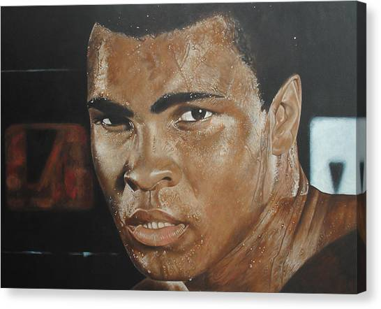 George Foreman Canvas Print - Muhammad Ali The Greatest by David Dunne
