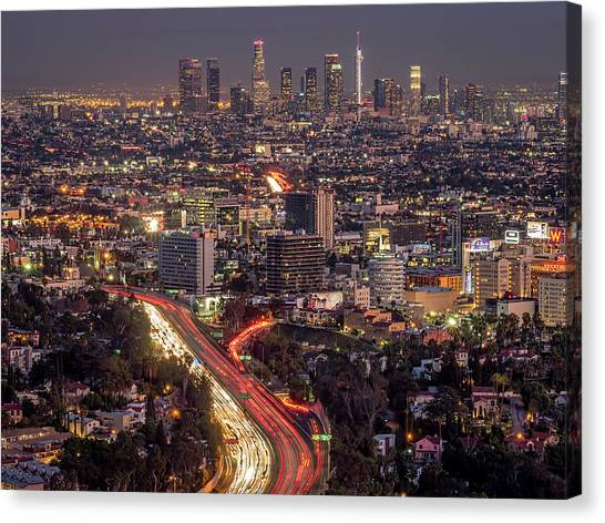 Mulholland Drive View #2 Canvas Print
