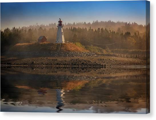 New Brunswick Canvas Print - Mulholland Point Lighthouse by Rick Berk