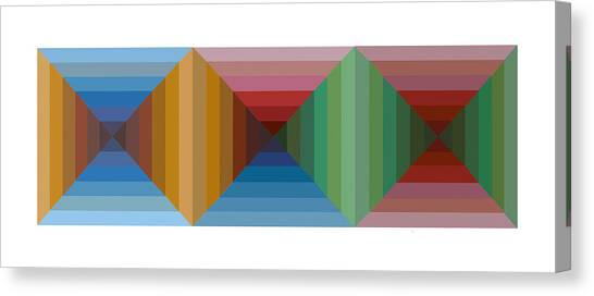 Multi-color Graphic Horizontal Maze Canvas Print by Beverly Trivane