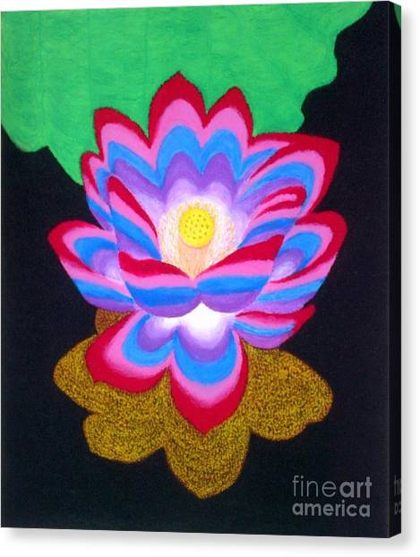 White lotus flower canvas prints page 15 of 47 fine art america white lotus flower canvas print multi colored lotus flower by pamela abeleda mightylinksfo