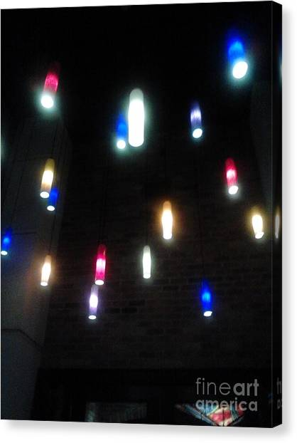 Multi Colored Lights Canvas Print