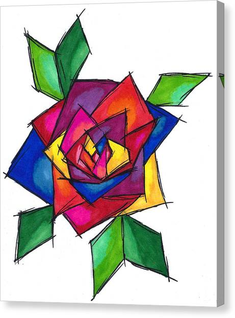 Multi Rose Canvas Print