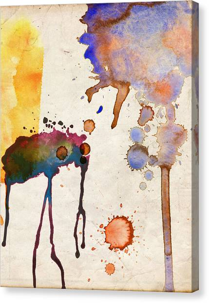 Multicolor Splash Canvas Print