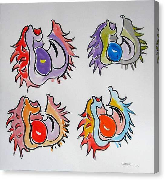 Multicolored Conkers Canvas Print by Vitali Komarov